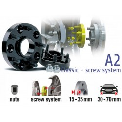 POWERTECH Distanzscheiben A2 50mm Subaru Impreza WRX STI 03-05