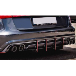 Heckdiffusor DTM Style ABS Audi S6 C7 Avant