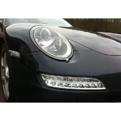 LED Frontlicht + Blinker Klar Porsche 997 '04