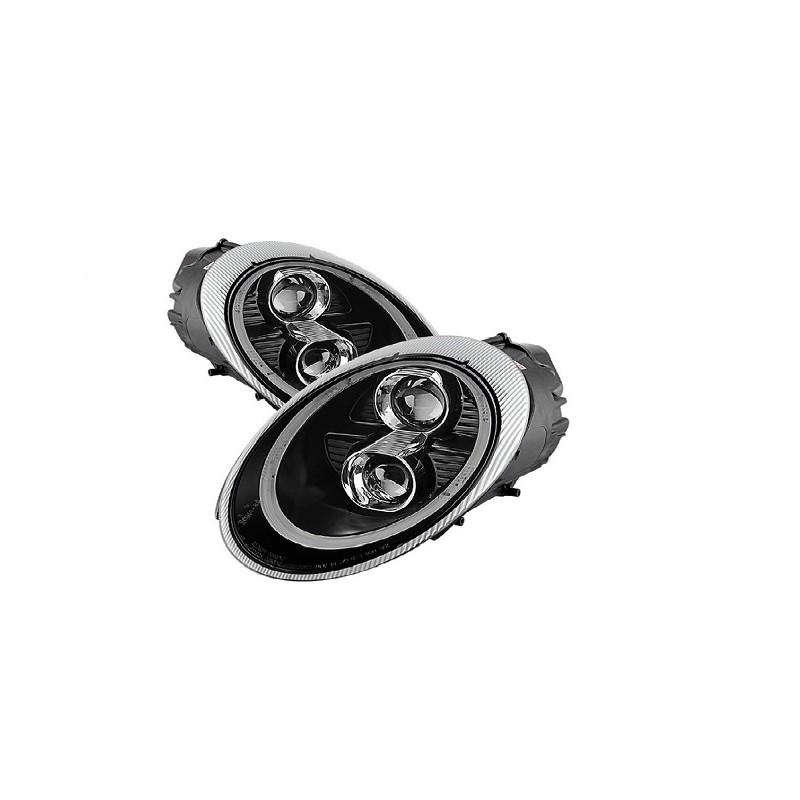 led lighttube xenon scheinwerfer schwarz porsche 911 997 04 08. Black Bedroom Furniture Sets. Home Design Ideas