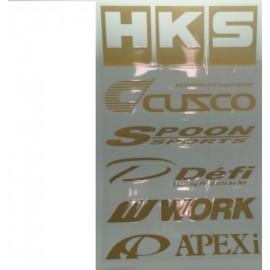 Aufklebersets Sticker Sponsoren