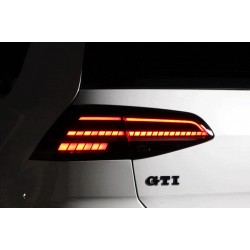 Full LED Heckleuchten Sequentiell Schwarz Smoke VW Golf 7