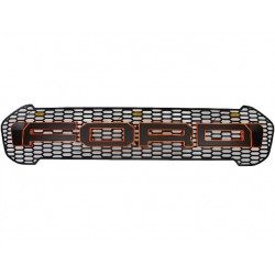 ABS Grill ''FORD'' Schwarz/Rot LED Ford Ranger 15-18