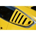 Seitenfenster Lamellen Schwarz ABS Ford Mustang 2014-