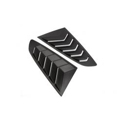 Seitenfenster Lamellen Schwarz Matt ABS Ford Mustang 2014-