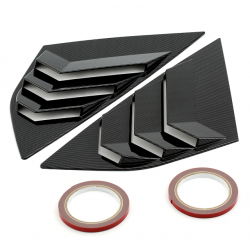 Side Window Louvers Carbon Ford Focus 15-17