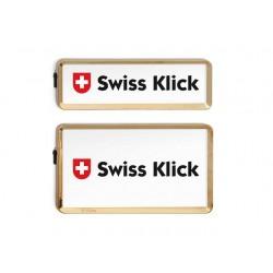Swissklick Nummernschildhalter Hochformat Gold