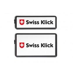 Swissklick Nummernschildhalter Hochformat Schwarz
