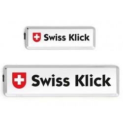 Swissklick Nummernschildhalter Langformat Chrom