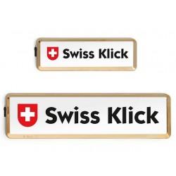 Swissklick Nummernschildhalter Langformat Gold