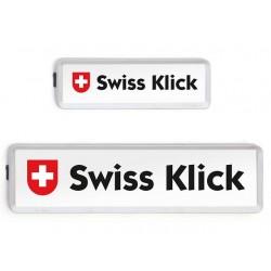 Swissklick Nummernschildhalter Langformat Chrom-Matt