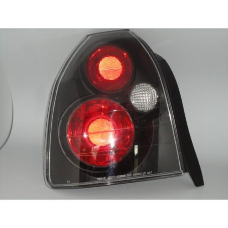 Honda Civic Jg. 96-01 Heckleuchten Klarglas. Schwarz