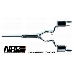 NAP Klappenauspuff-Anlage Ford Mustang 2015 EcoBoost