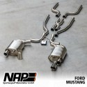 NAP Klappenauspuff-Anlage Ford Mustang 2015 5.0 V8 X-Pipe