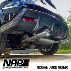 NAP Klappenauspuff-Anlage Nissan Juke Nismo | Duplex