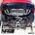 NAP Klappenauspuff-Anlage Audi S3 (8V facelift 2016) Limo