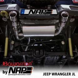 NAP Klappenauspuff-Anlage Jeep Wrangler JL Duplex inkl. CH-Genehmigung
