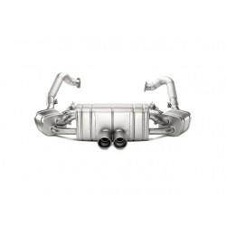 Akrapovic Klappenauspuff-Anlage Porsche 981 Boxster / Cayman Slip-On