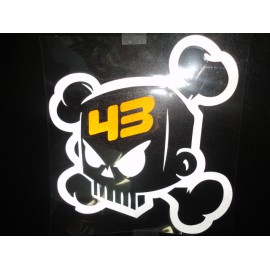 Sticker Ken Block Skull 43 silber