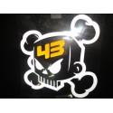 Sticker Ken Block Skull 43 silber