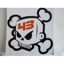 Sticker Ken Block Skull 43 schwarz