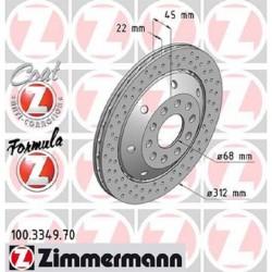 Zimmermann Sportbremsscheiben gelocht Audi RS4 B5 Hinten inkl. CH-Genehmigung