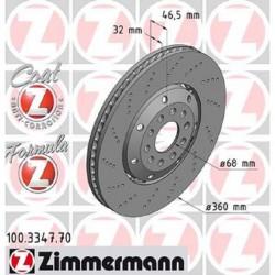 Zimmermann Sportbremsscheiben gelocht Audi RS4 B5 Vorne inkl. CH-Genehmigung