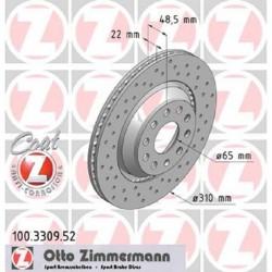 Zimmermann Sportbremsscheiben gelocht Audi S3 8P, S3 8V, TTS 8S HA Hinten inkl. CH-Genehmigung