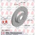 Zimmermann Sportbremsscheiben gelocht Audi S3 8P, S3 8V, TTS 8S HA