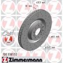 Zimmermann Sportbremsscheiben gelocht Audi S3 8P, Seat Leon 2 Cupra VA