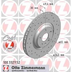 Zimmermann Sportbremsscheiben gelocht Audi TTS 8J (340mm) VA Vorne inkl. CH-Genehmigung