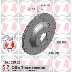 Zimmermann Sportbremsscheiben gelocht Audi TTS 8J HA Hinten inkl. CH-Genehmigung