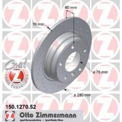 Zimmermann Sportbremsscheiben gelocht BMW 325i / 328i E36 HA