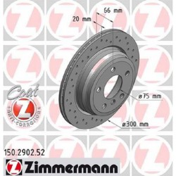 Zimmermann Sportbremsscheiben gelocht BMW 328i F30, 428i F32 HA