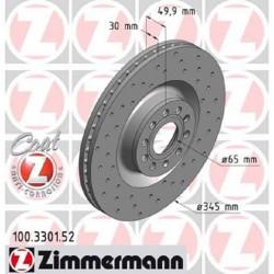 Zimmermann Sportbremsscheiben gelocht BMW 328i F30, 428i F32 VA
