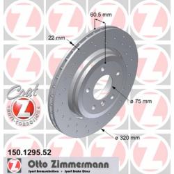 Zimmermann Sportbremsscheiben gelocht BMW 330i E46 HA