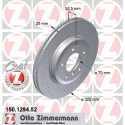 Zimmermann Sportbremsscheiben gelocht BMW 330i E46 VA