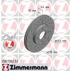 Zimmermann Sportbremsscheiben gelocht Ford Fiesta ST180/ST200 JA8 VA