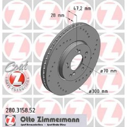 Zimmermann Sportbremsscheiben gelocht Honda Accord Type R 2.2 VA