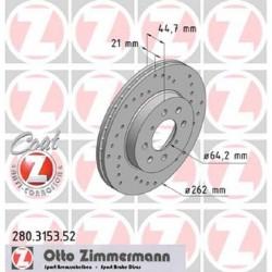 Zimmermann Sportbremsscheiben gelocht Honda Civic 1.6 VTi EK4 VA