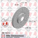 Zimmermann Sportbremsscheiben gelocht Honda Civic Type R EP3 VA