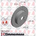 Zimmermann Sportbremsscheiben gelocht Subaru Impreza STI 05-16 HA