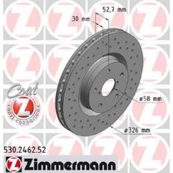 Zimmermann Sportbremsscheiben gelocht Subaru Impreza STI 05-16 VA Vorne inkl. CH-Genehmigung