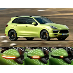 Dynamische Seitenblinker Schwarz Porsche Cayenne 958 2011-2017