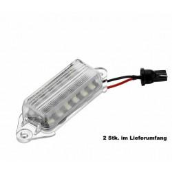 LED Kennzeichen Beleuchtung Mitsubishi Lancer EVO 10
