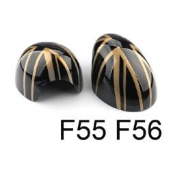 England Spiegelkappen Schwarz/Gold Mini Cooper F55/F56