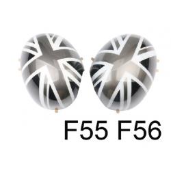 England Spiegelkappen Schwarz/Silber Mini Cooper F55/F56