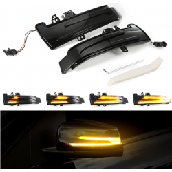 LED Seitenblinker sequentiell schwarz smoke Mercedes Benz C-Klasse