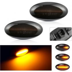 LED Seitenblinker sequentiell schwarz smoke Peugeot inkl. E-Prüfzeichen
