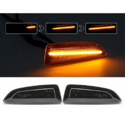 LED Seitenblinker sequentiell schwarz smoke Opel Astra J/K inkl. E-Prüfzeichen